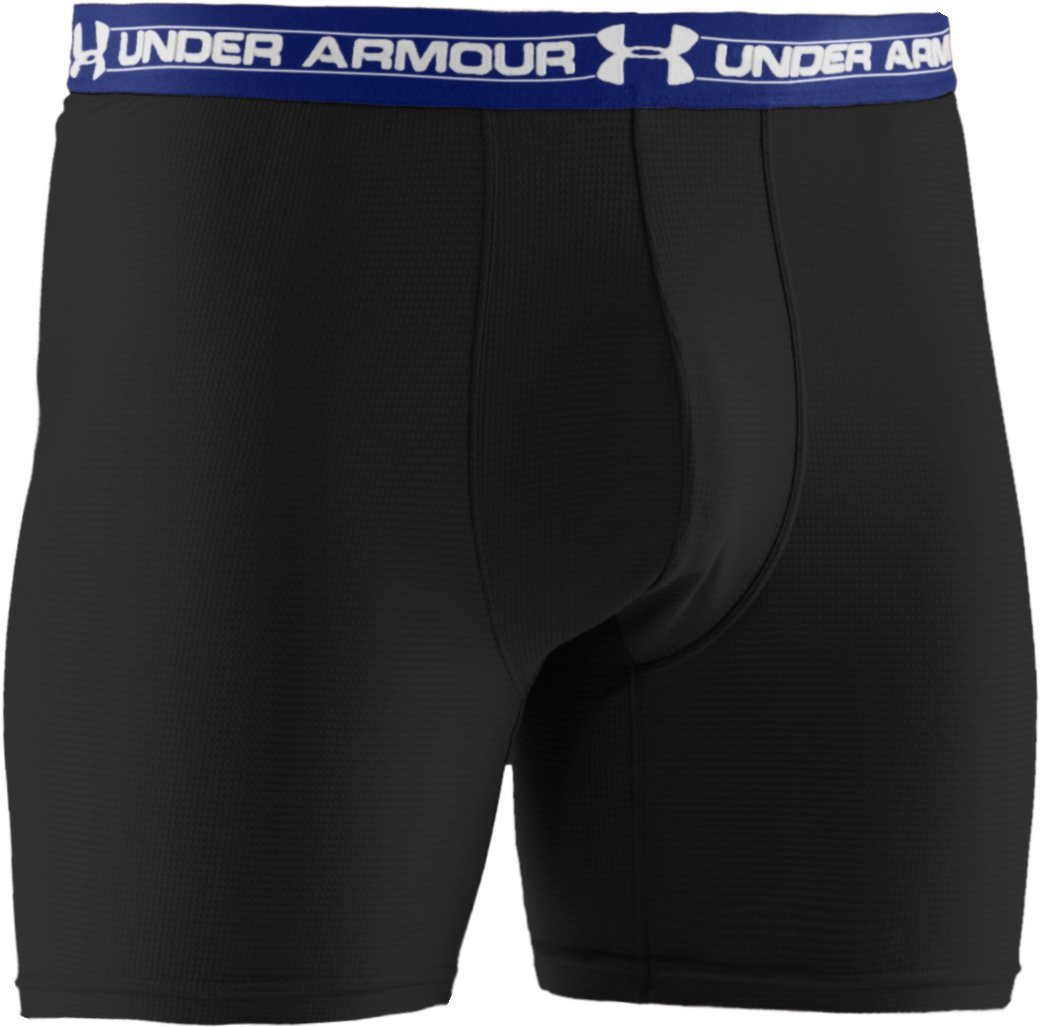 "Men's UA Mesh Series 6"" Boxerjock®, Black ,"