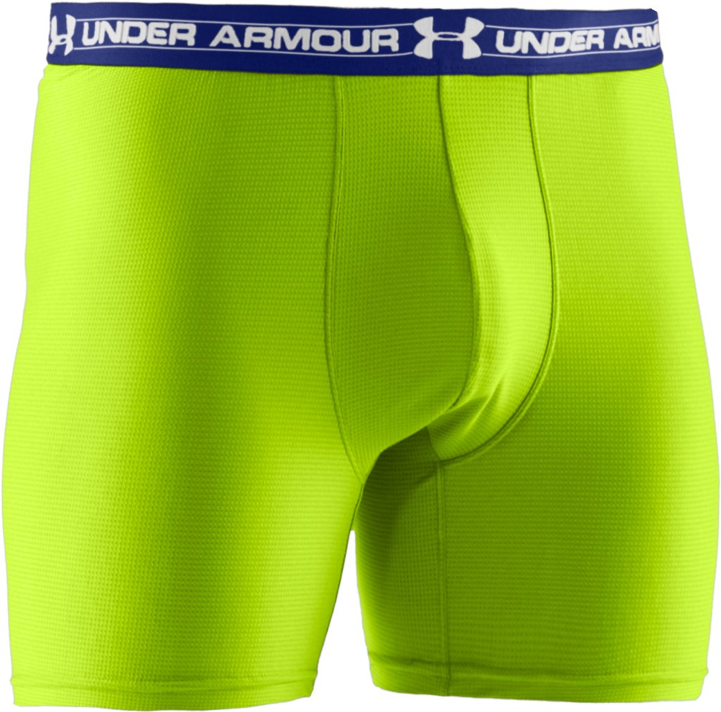 "Men's UA Mesh Series 6"" Boxerjock®, HYPER GREEN, undefined"