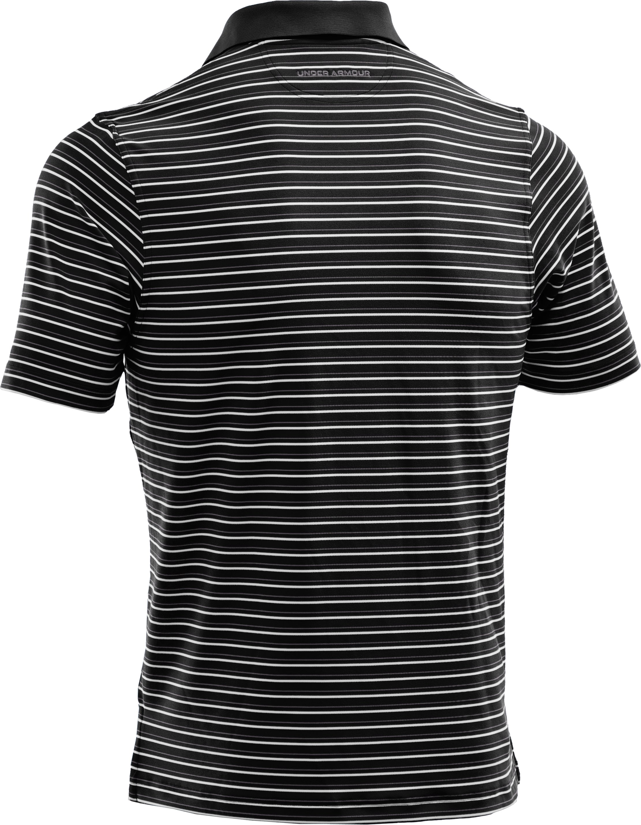 Men's UA Performance Stripe Polo 2.0, Black
