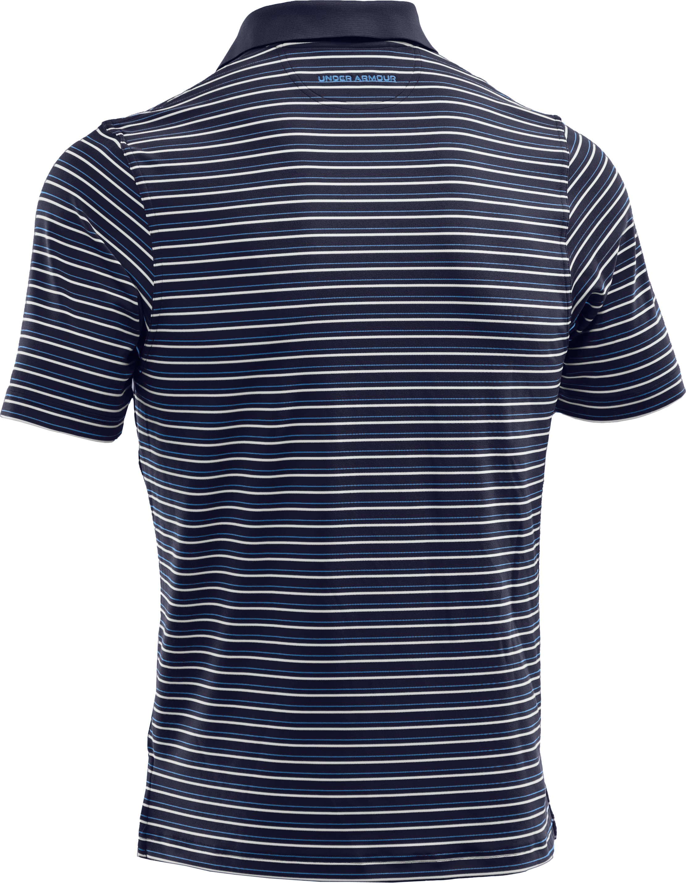 Men's UA Performance Stripe Polo 2.0, Midnight Navy,