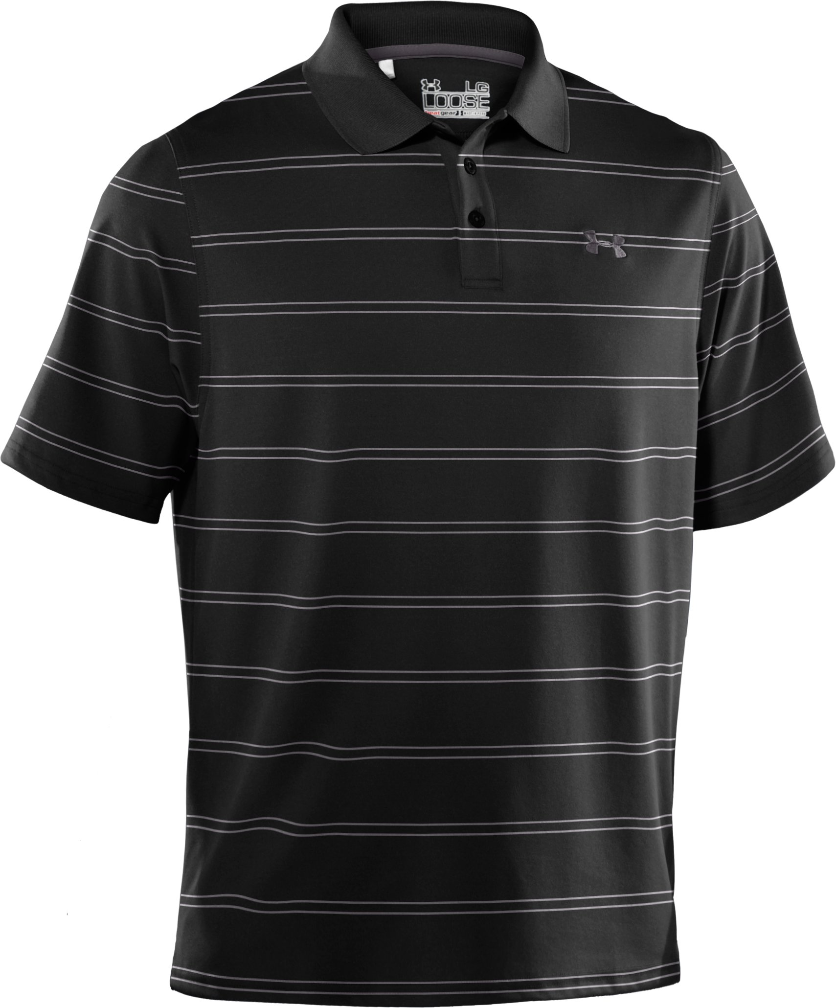 Men's UA Draw Stripe Pique Polo 2.0, Black
