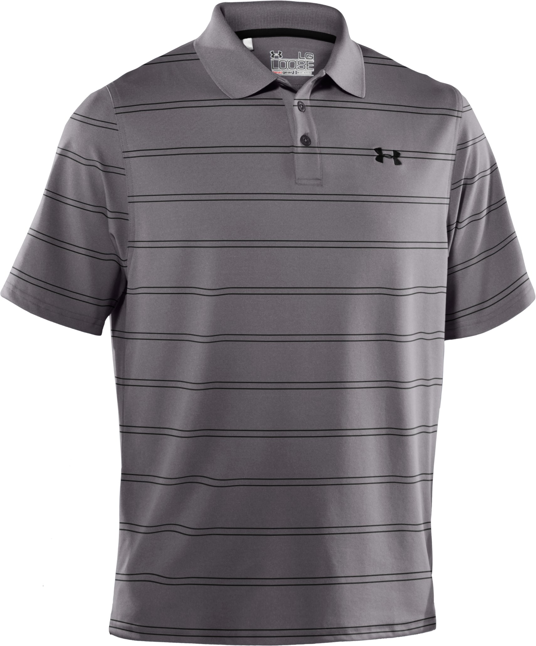 Men's UA Draw Stripe Pique Polo 2.0, Concrete