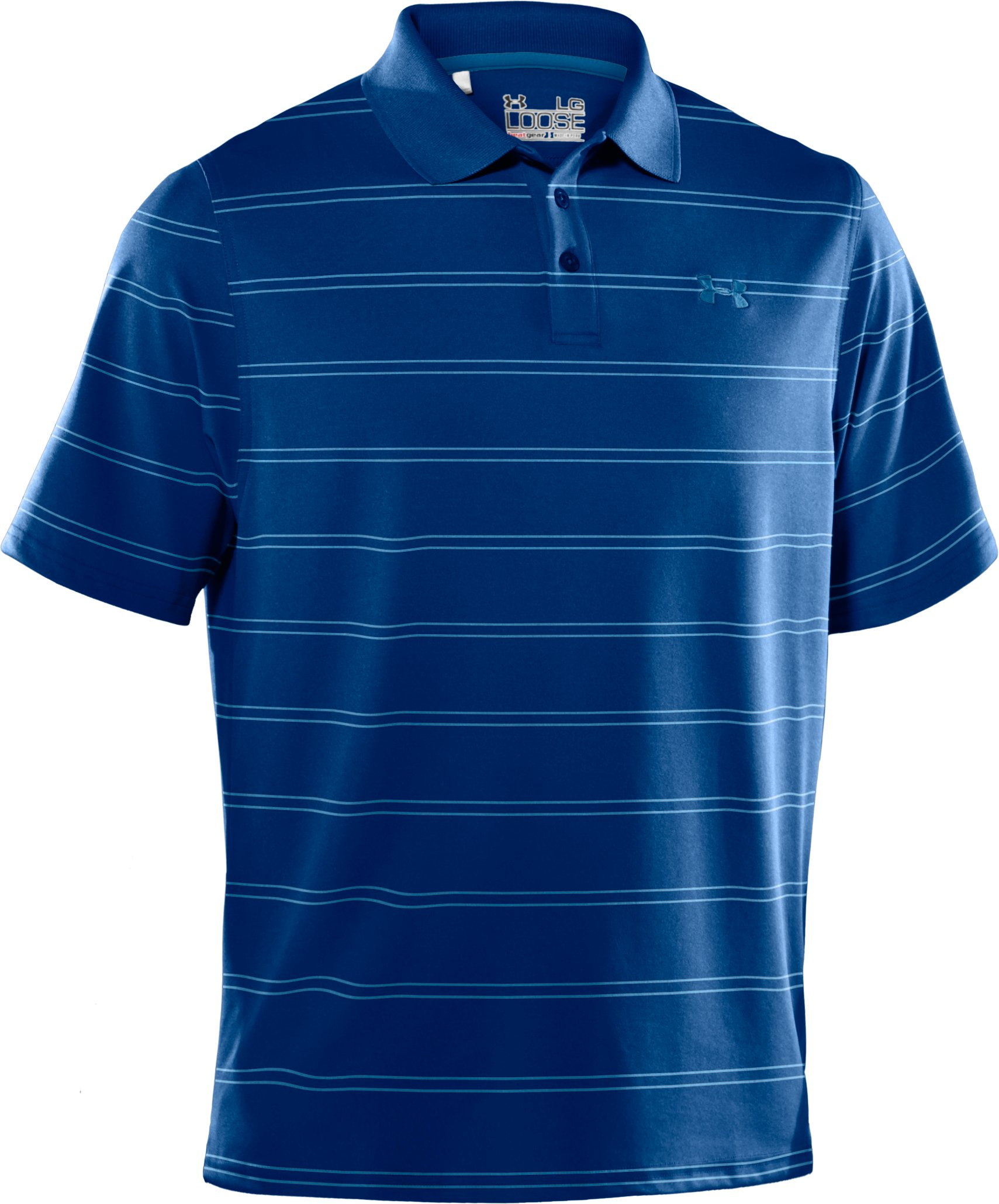 Men's UA Draw Stripe Pique Polo 2.0, EMPIRE BLUE
