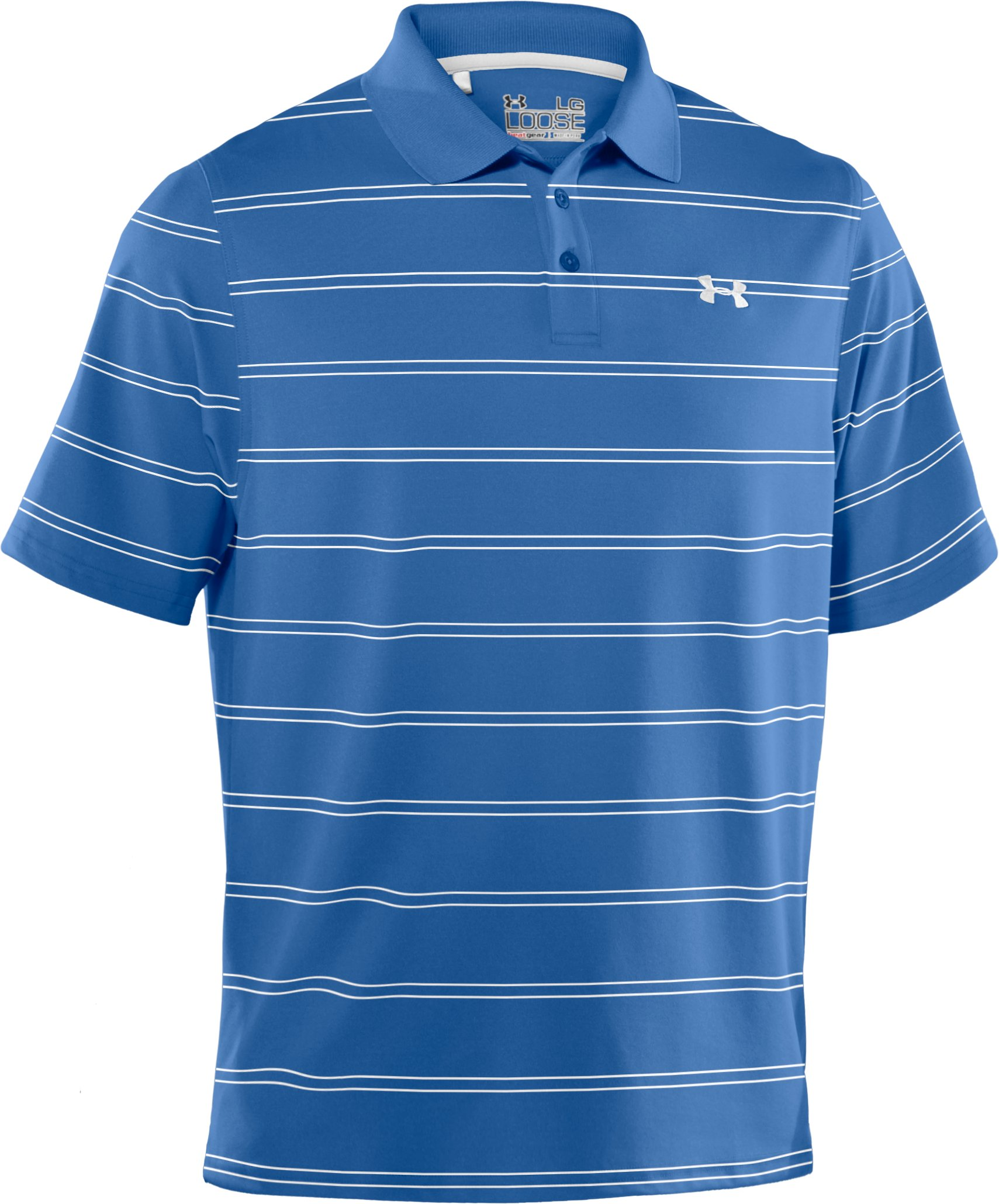 Men's UA Draw Stripe Pique Polo 2.0, Moody, undefined