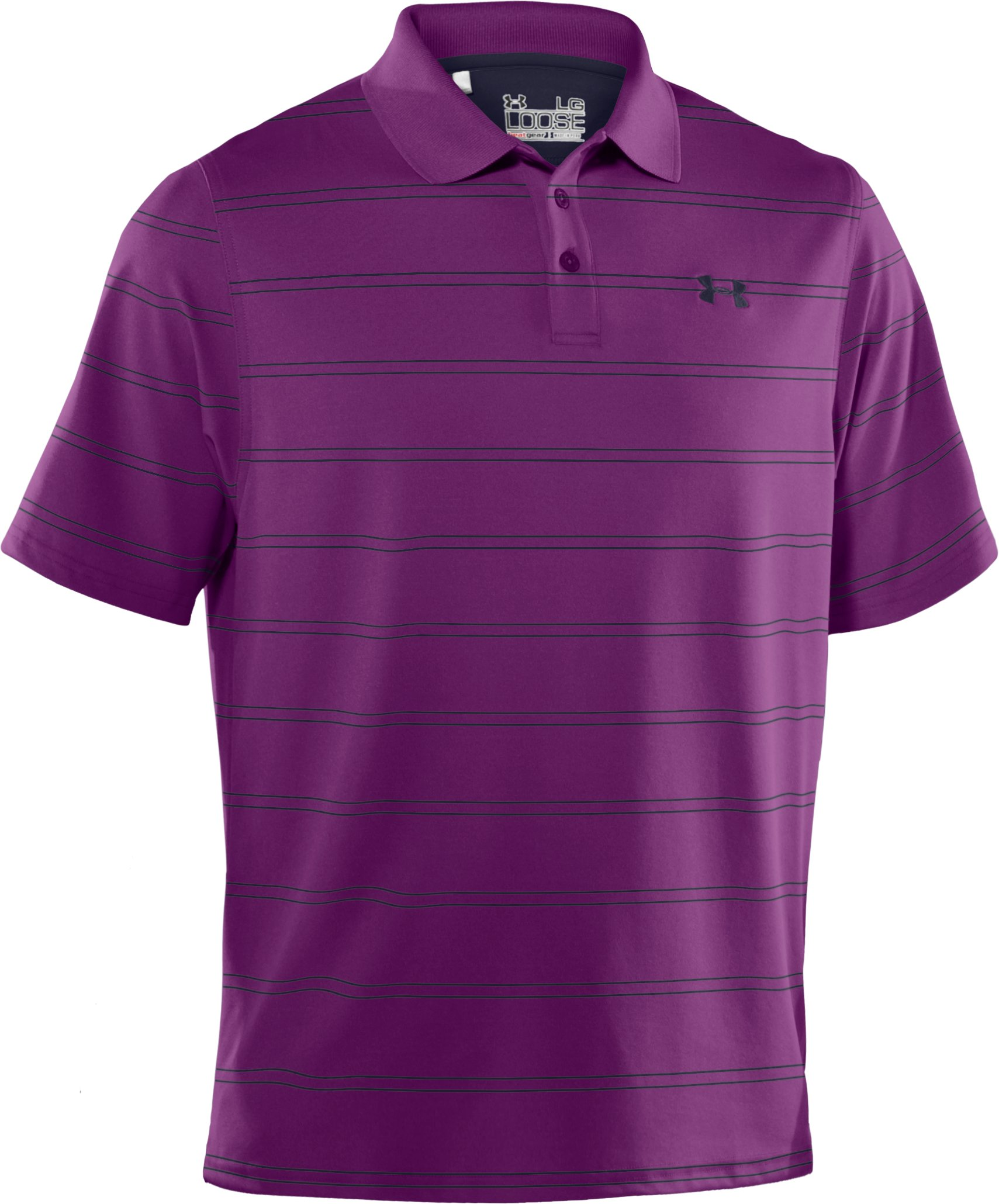 Men's UA Draw Stripe Pique Polo 2.0, Cassis