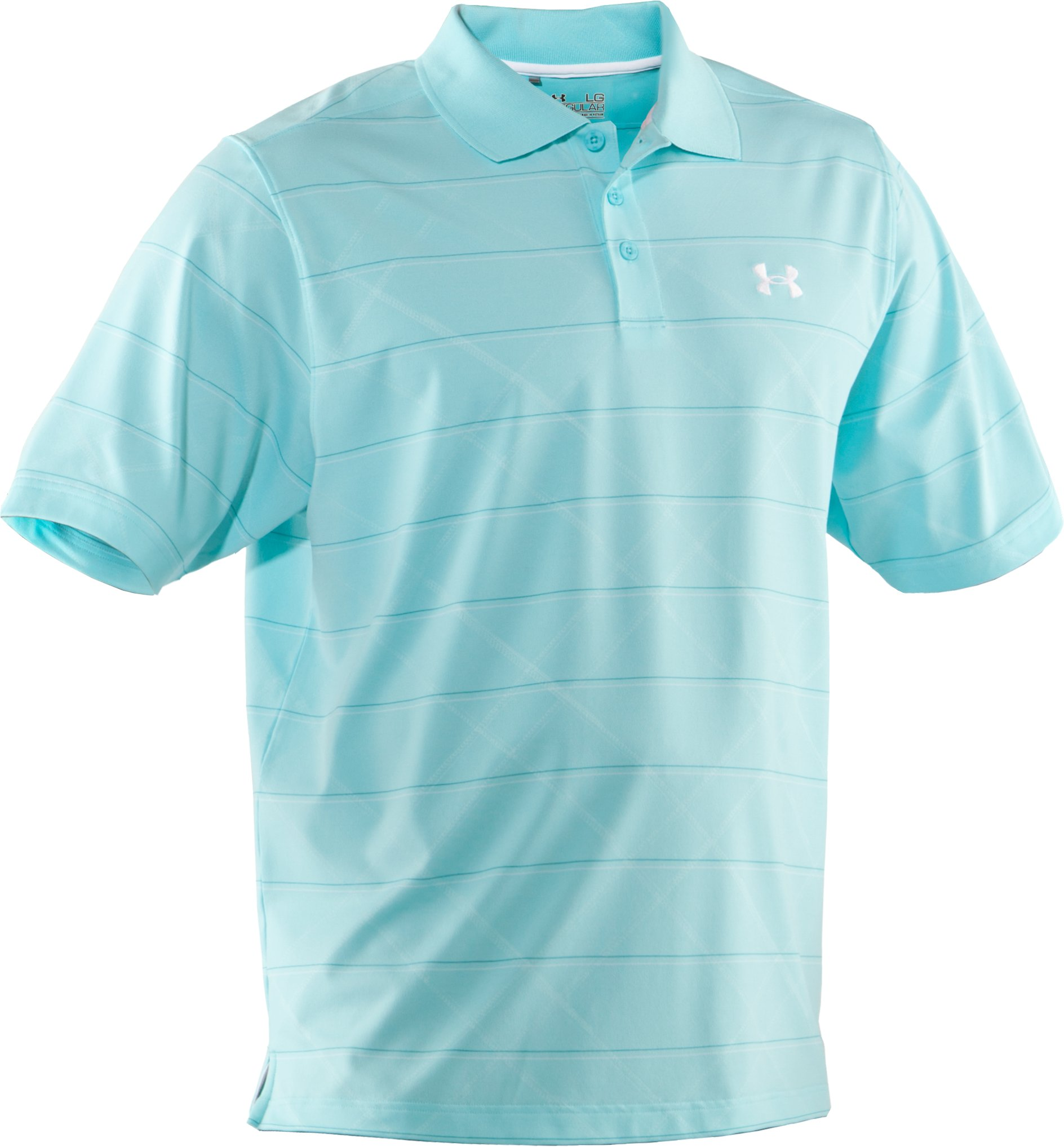 Men's UA Embossed Stripe Polo 2.0, Tobago