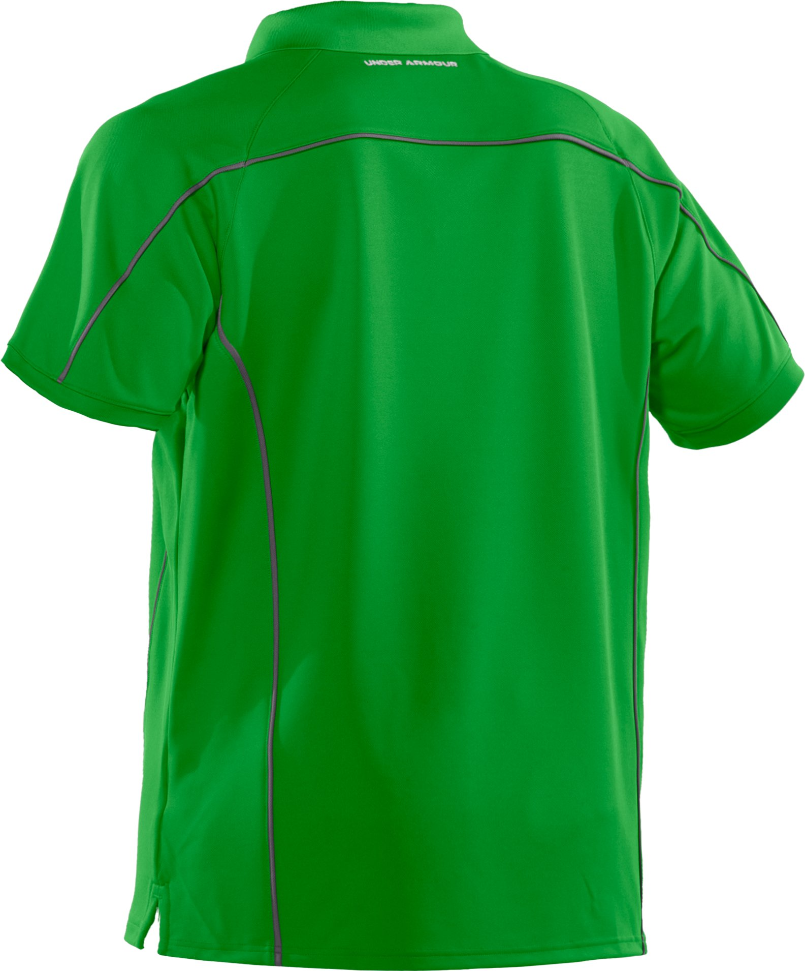 Men's UA Performance Pique Colorblock Polo, Tree Frog