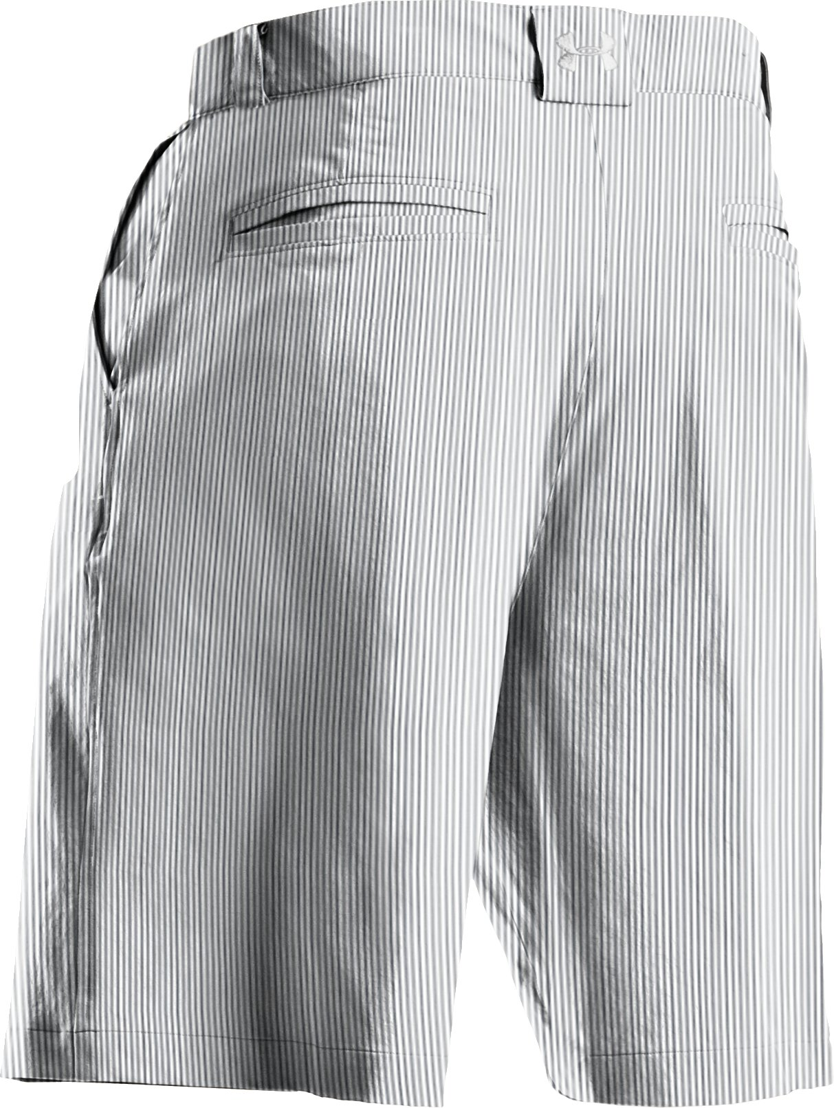 Men's UA Forged Stripe Golf Shorts 2.0, White