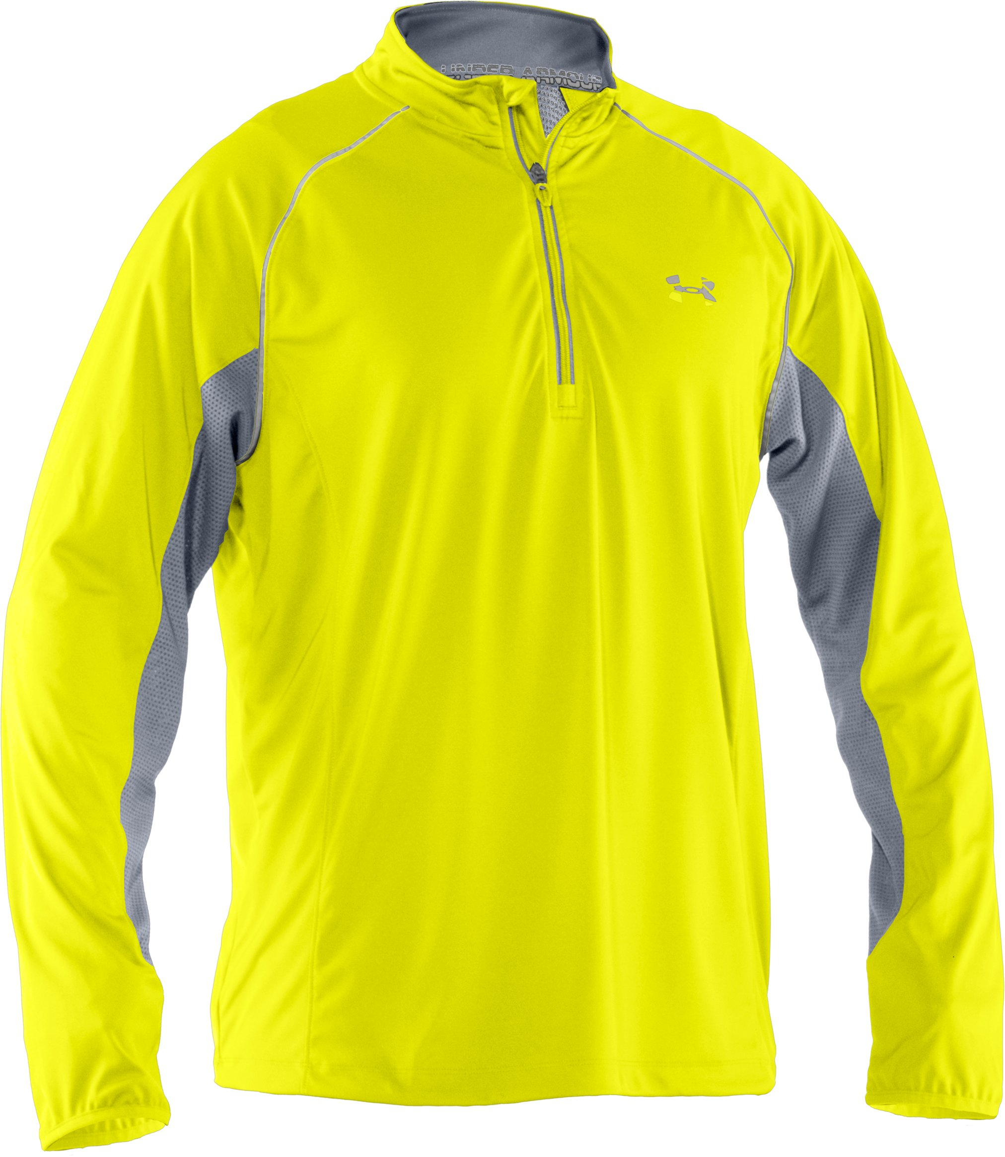 Men's UA Run ¼ Zip Jacket, High-Vis Yellow