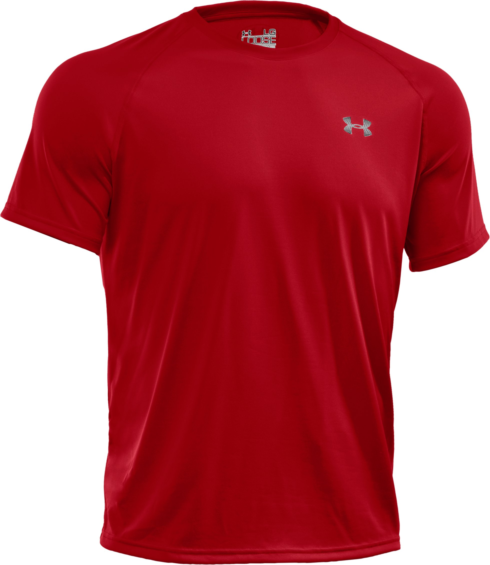 Men's UA Tech™ Short Sleeve T-Shirt, Red, undefined