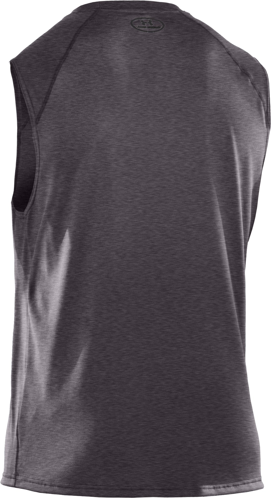 Men's UA Tech™ Sleeveless T-Shirt, Carbon Heather,