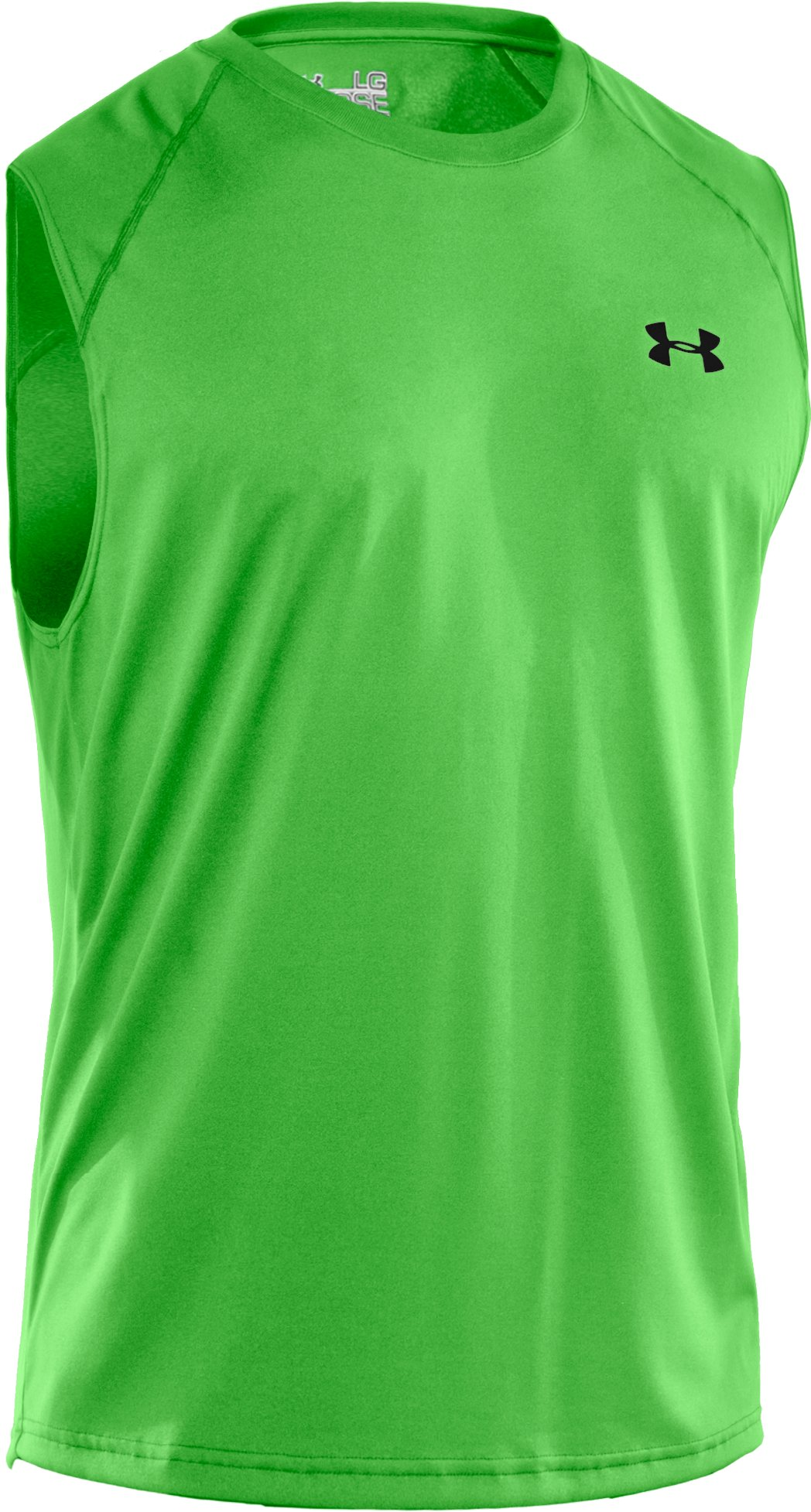 Men's UA Tech™ Sleeveless T-Shirt, PARROT GREEN