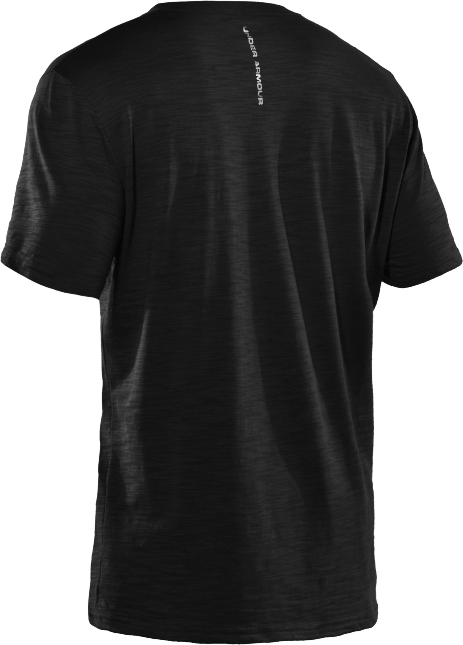 Men's Charged Cotton® Slub V-Neck T-Shirt, Black