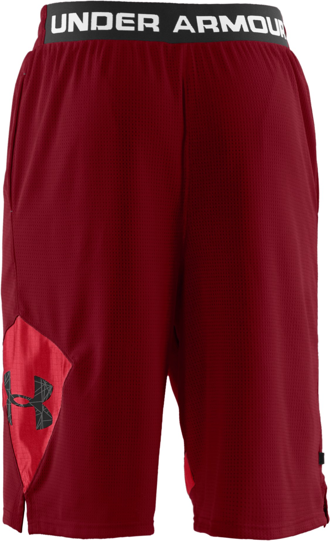 "Men's UA Floor General 12"" Basketball Shorts, Crimson"