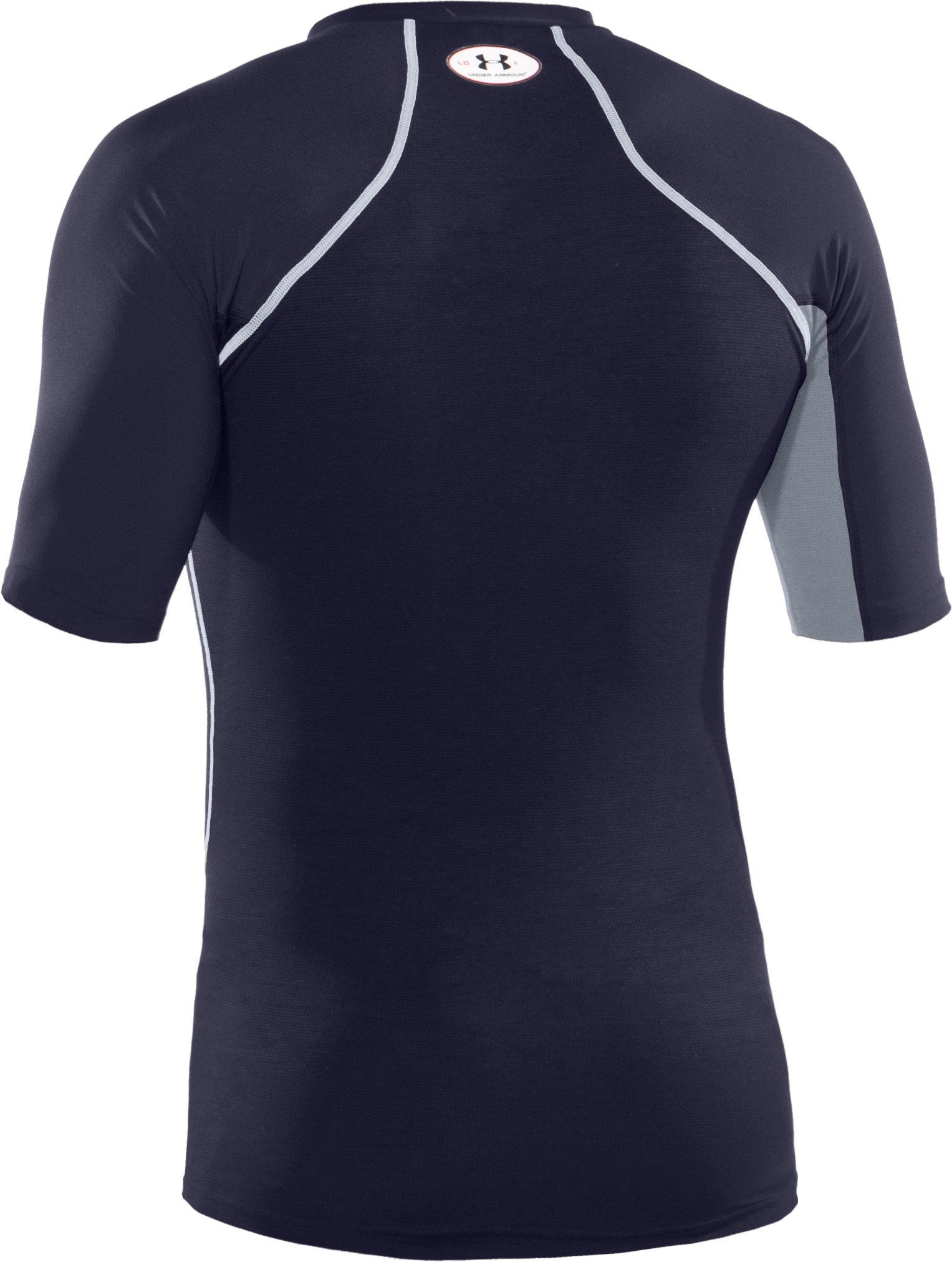 Men's HeatGear® Stretch Woven Short Sleeve, Midnight Navy
