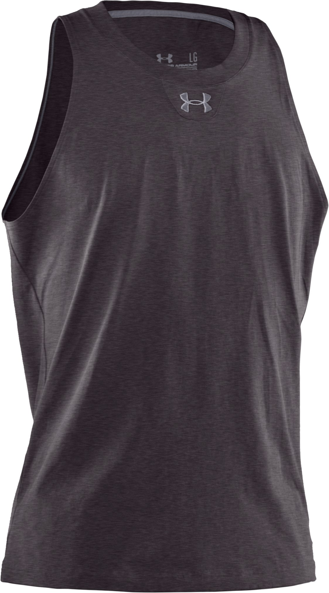 Men's Charged Cotton® Tank, Carbon Heather, undefined