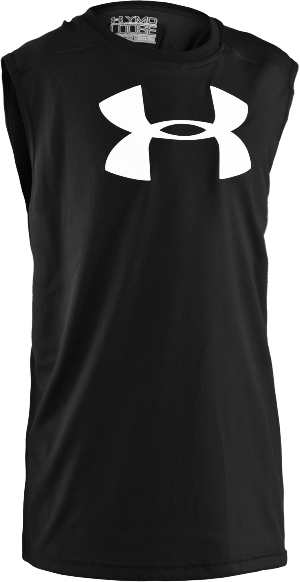 Boys' UA Tech™ Big Logo Sleeveless T-Shirt, Black