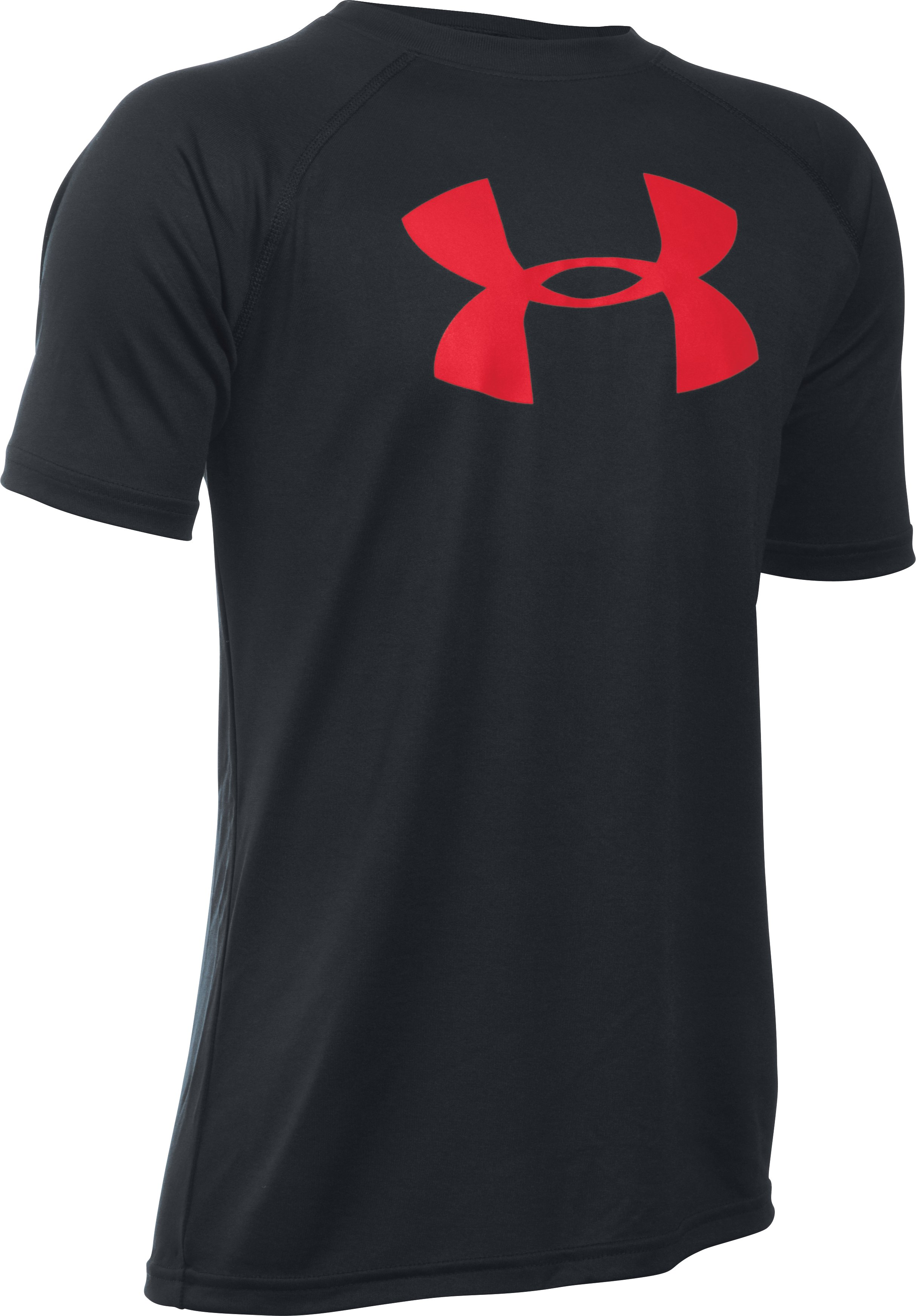 Boy's UA Tech™ Big Logo T-Shirt, Black , zoomed image