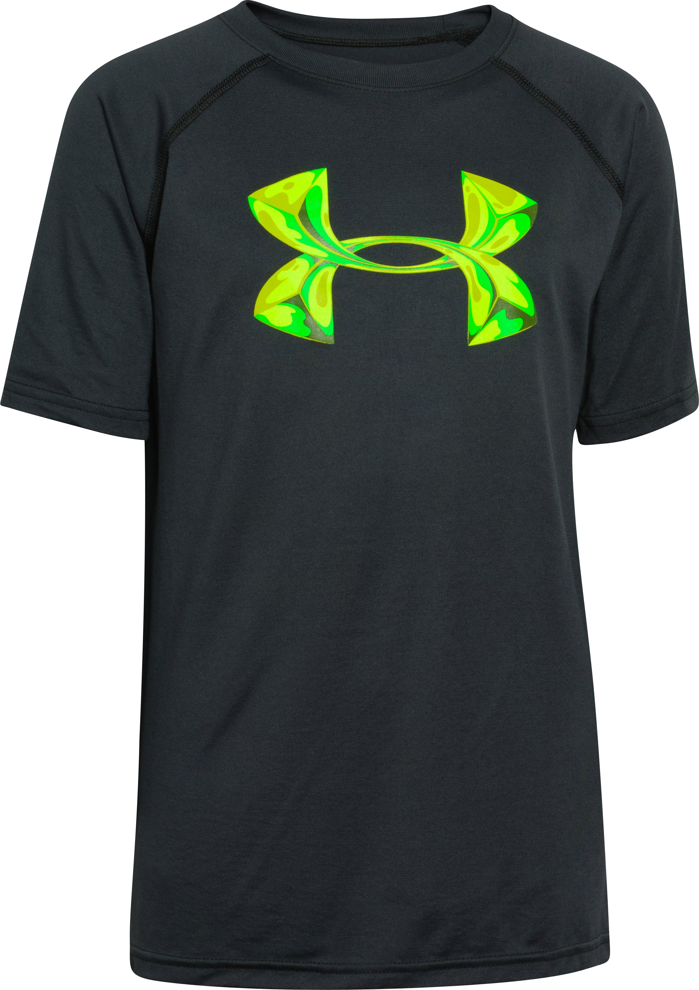 Boys' UA Tech Big Logo T-Shirt, ANTHRACITE, undefined