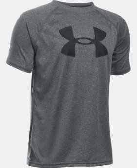 New Arrival  Boys' UA Tech™ Big Logo Short Sleeve T-Shirt LIMITED TIME: FREE SHIPPING 15 Colors $17.99 to $22.99