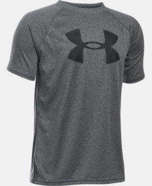Boys' UA Tech™ Big Logo Short Sleeve T-Shirt LIMITED TIME: FREE SHIPPING 5 Colors $16.49 to $17.24