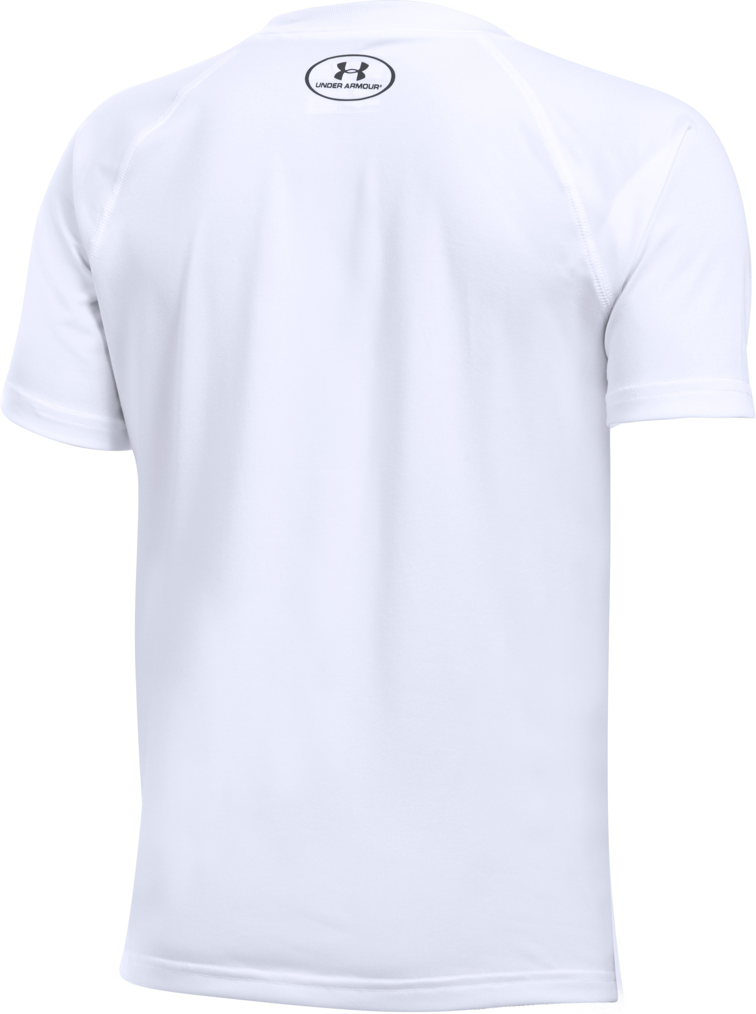 Boys' UA Tech Big Logo T-Shirt, White, undefined