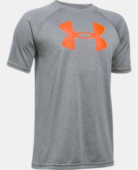 Best Seller  Boys' UA Tech Big Logo T-Shirt  4 Colors $17.99