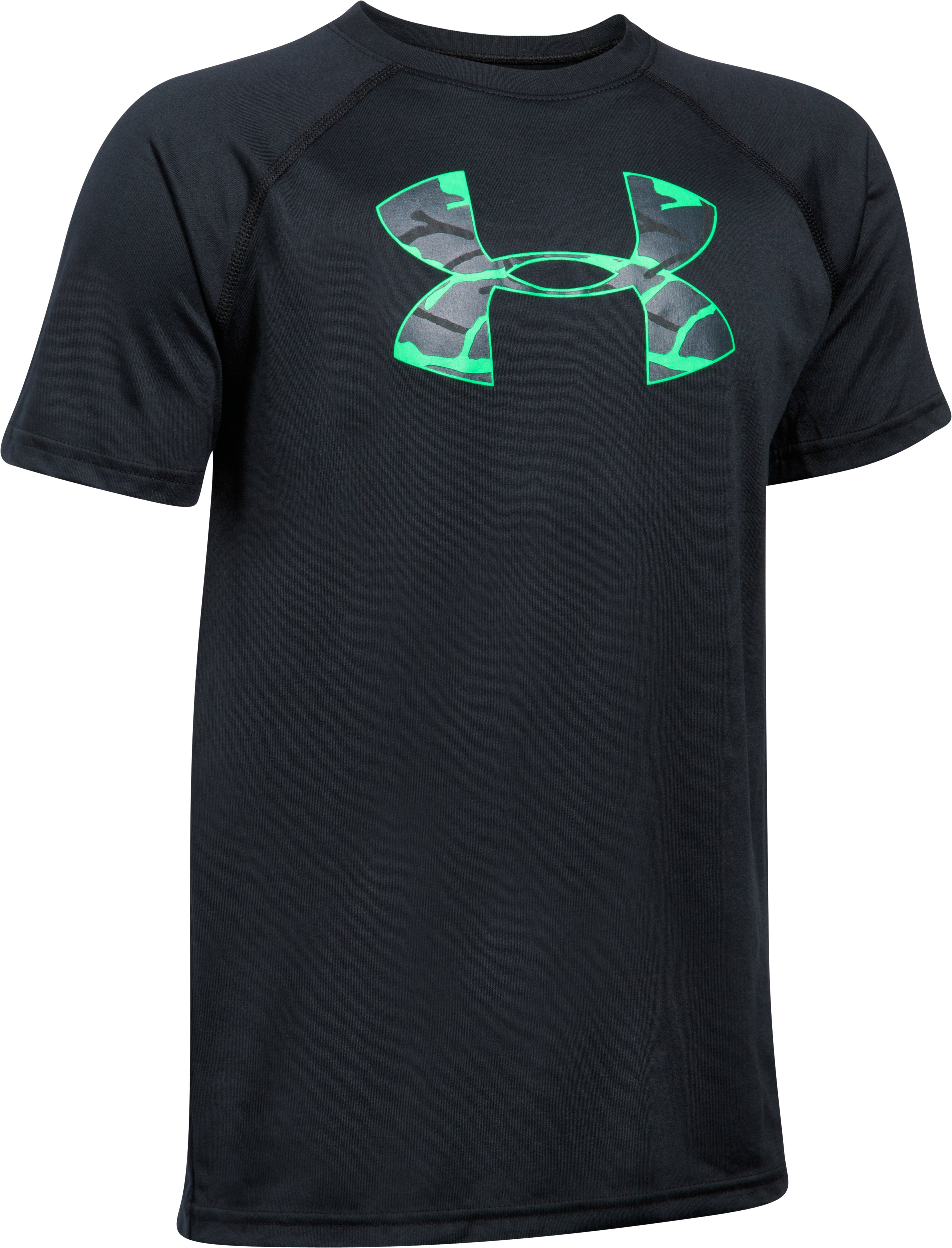 Boys' UA Tech Big Logo T-Shirt, Black , undefined