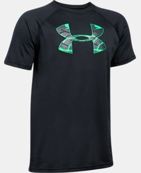 Best Seller Boys' UA Tech Big Logo T-Shirt  5 Colors $14.99