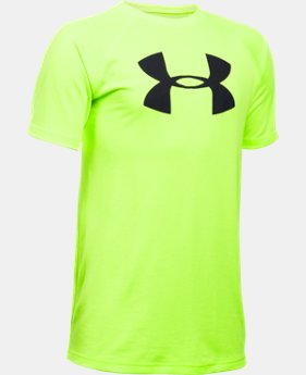 New to Outlet Boys' UA Tech™ Big Logo Short Sleeve T-Shirt LIMITED TIME: FREE U.S. SHIPPING 4 Colors $14.99