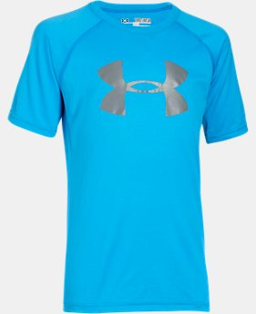 New to Outlet Boy's UA Tech™ Big Logo T-Shirt  5 Colors $11.99 to $14.99
