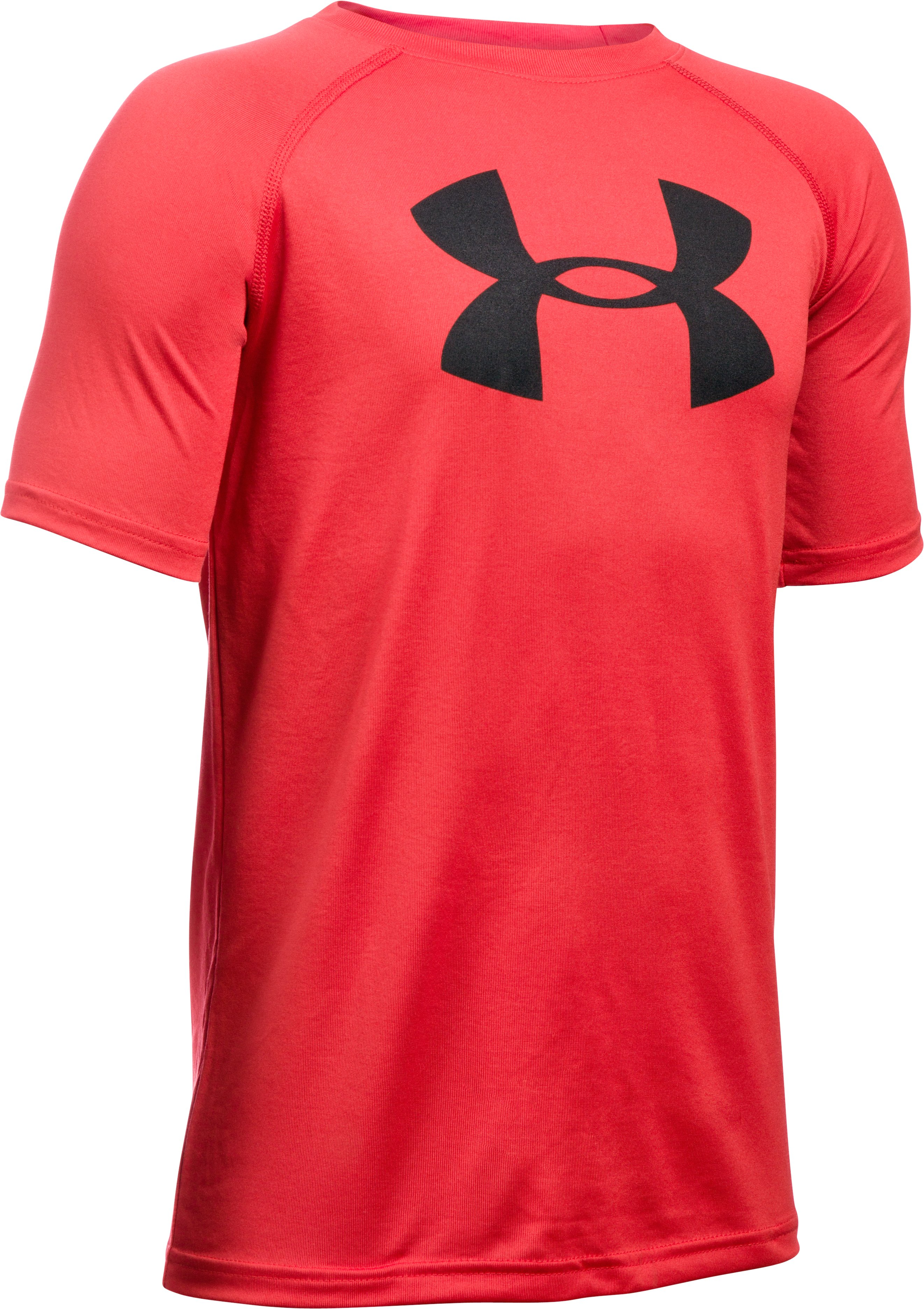 Boys' UA Tech™ Big Logo Short Sleeve T-Shirt, Red