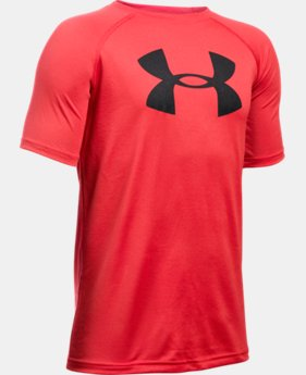 Best Seller  Boys' UA Tech Big Logo T-Shirt  2 Colors $17.99