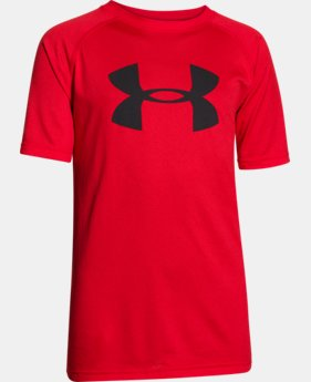 New to Outlet Boys' UA Tech™ Big Logo Short Sleeve T-Shirt LIMITED TIME: FREE U.S. SHIPPING 2 Colors $14.99