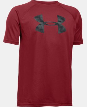 Boys' UA Tech™ Big Logo Short Sleeve T-Shirt LIMITED TIME: FREE U.S. SHIPPING 2 Colors $19.99