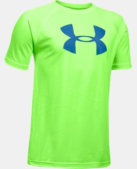 Best Seller Boys' UA Tech Big Logo T-Shirt  6 Colors $14.99