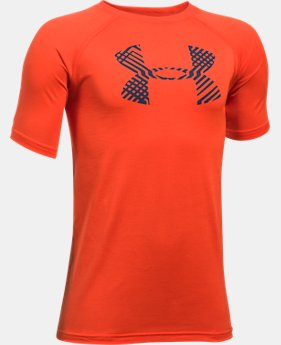 Boys' UA Tech™ Big Logo Short Sleeve T-Shirt LIMITED TIME: FREE U.S. SHIPPING 1 Color $19.99