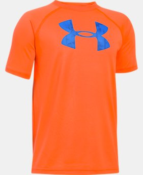 Best Seller Boys' UA Tech Big Logo T-Shirt  1 Color $14.99