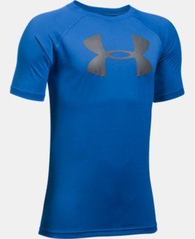 Best Seller Boys' UA Tech Big Logo T-Shirt  2 Colors $14.99