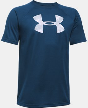 New Arrival Boys' UA Tech™ Big Logo Short Sleeve T-Shirt  2 Colors $14.99 to $19.99