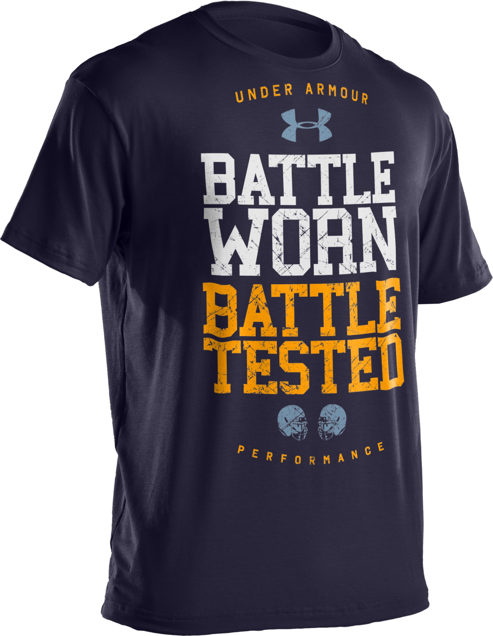 Men's UA Football Graphic T-Shirt, Midnight Navy,