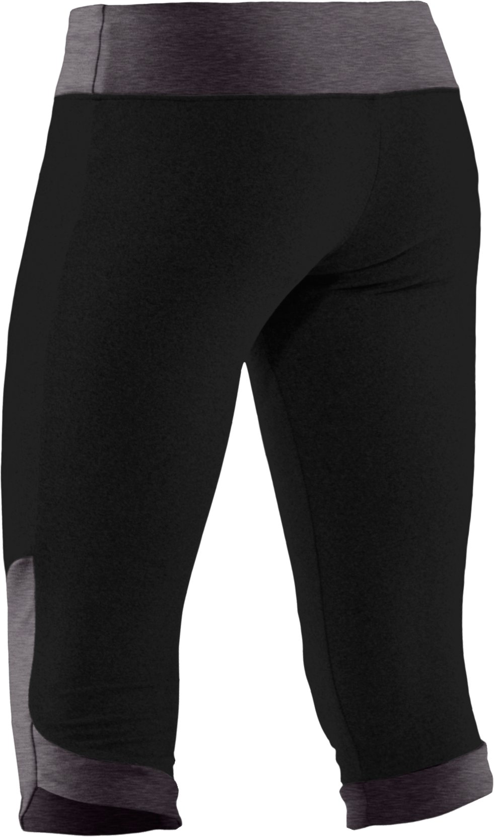 Girls' HeatGear® Touch Fitted Capri, Black