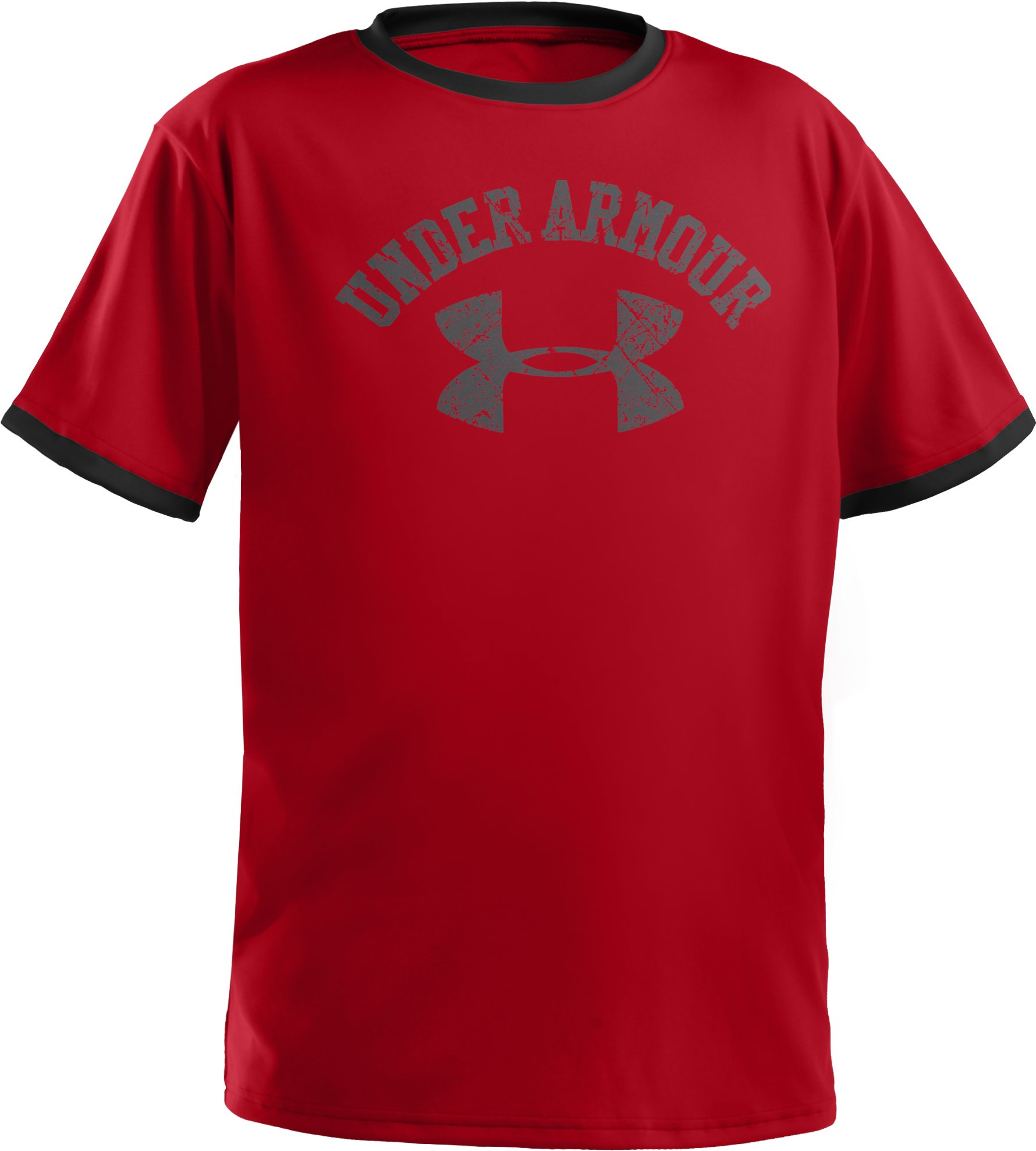 Boys' UA Collegiate Ringer T-Shirt, Red, undefined