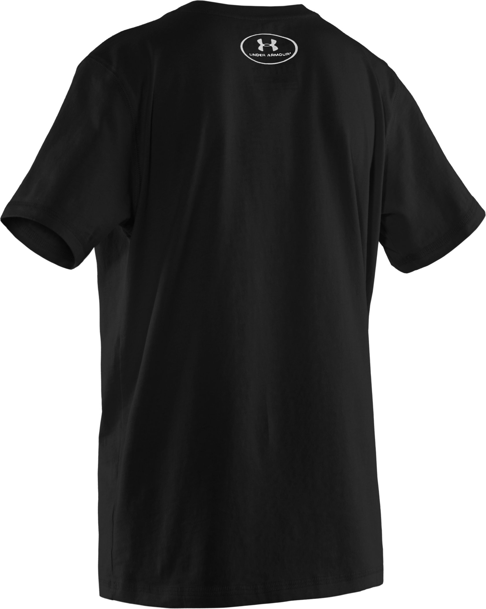 Boys' UA Charged Cotton® Short Sleeve T-Shirt, Black