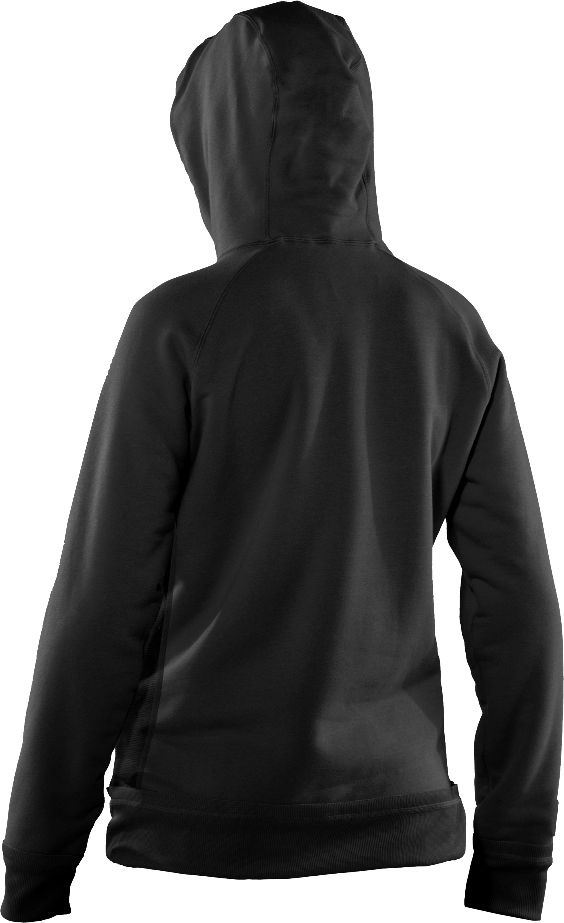 Women's UA Charged Cotton® Storm Fleece Full Zip Hoodie, Black ,