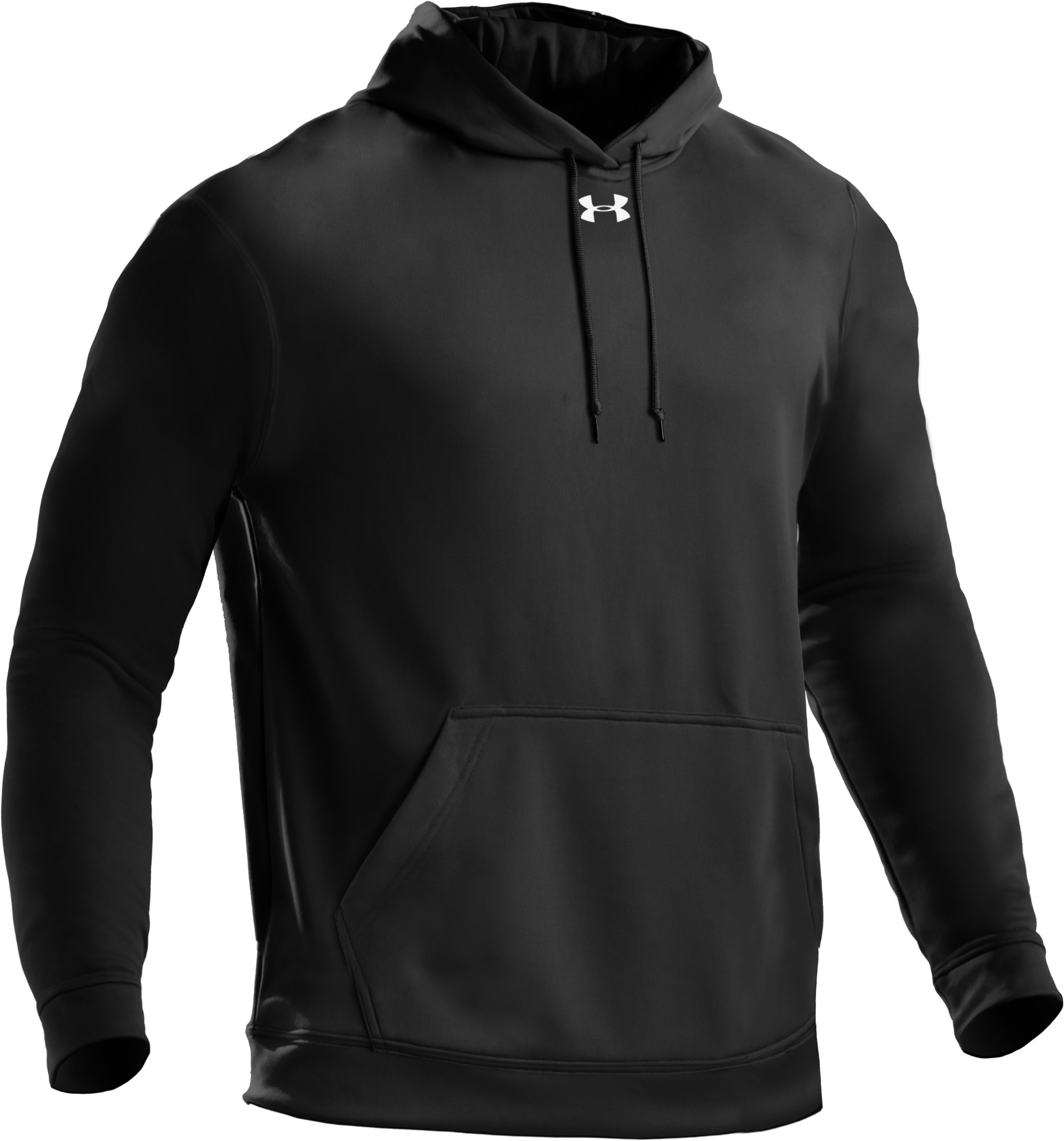 Men's Armour® Fleece Team Hoodie, Black , undefined