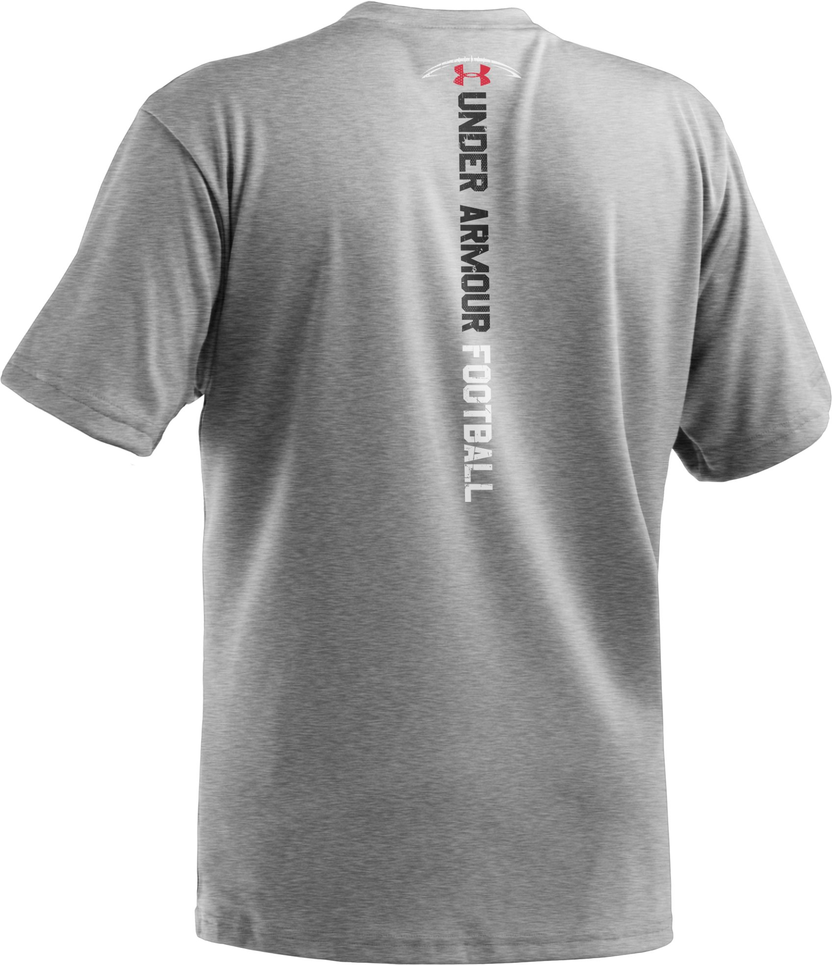 Boys' UA Hard Hits Graphic T-Shirt, True Gray Heather, undefined