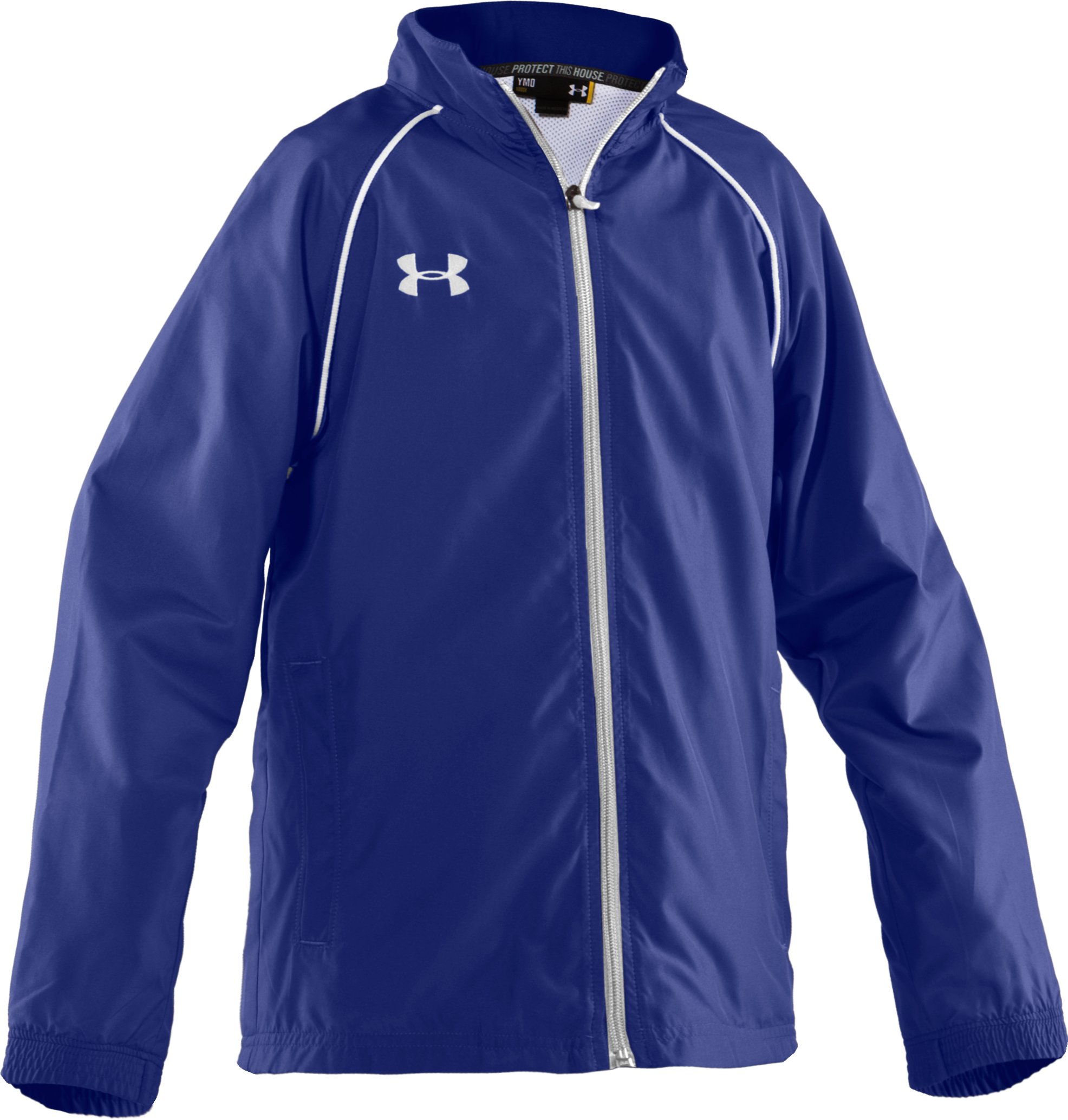 Boys' Advance Woven Warm-Up Jacket, Royal, undefined