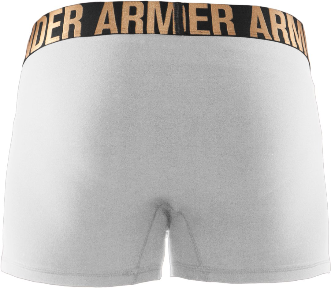 "Men's UA Elite 3"" Boxerjock® Boxer Briefs, White"