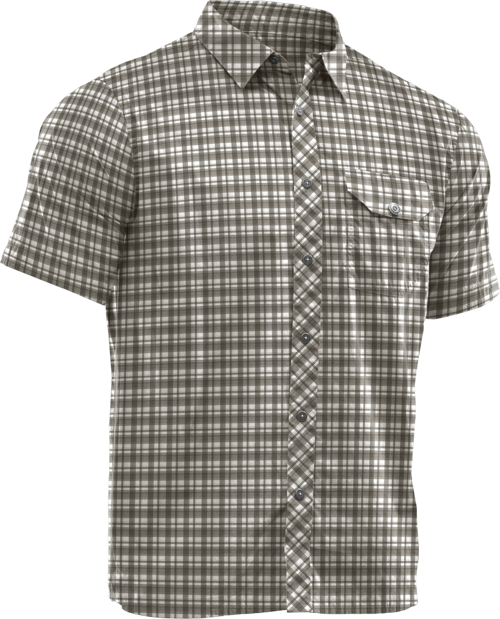 Men's Charged Cotton® Plaid Shirt, Rifle Green